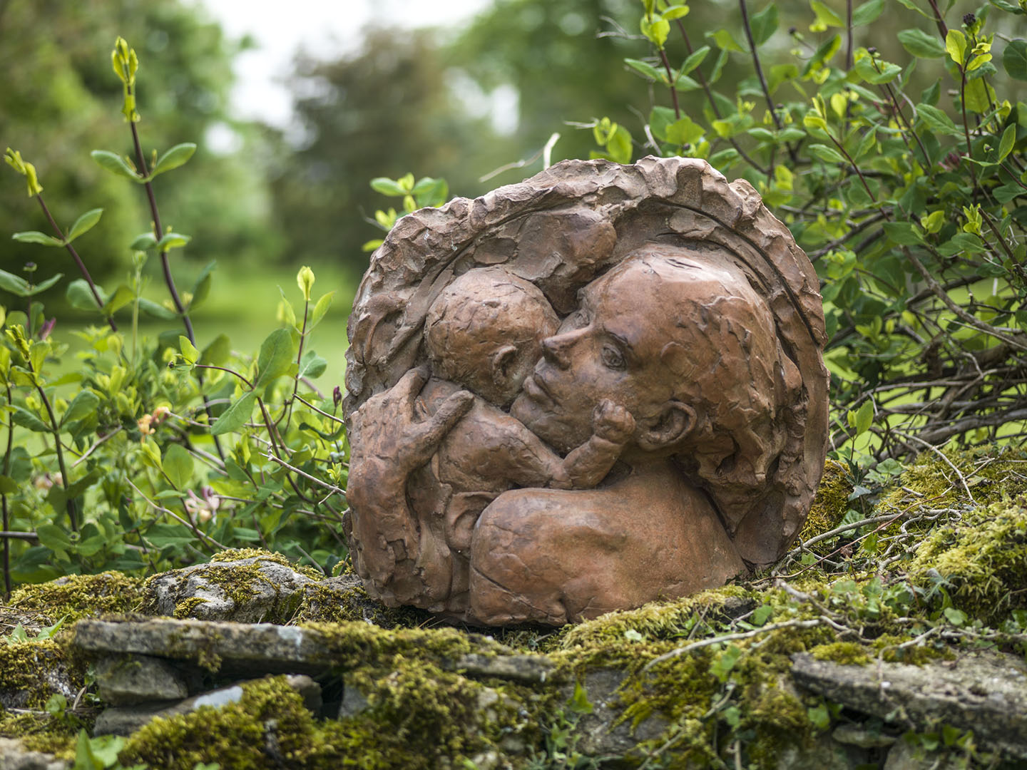 Mother and Child at St. Thomas', Sculpture by Louisa Forbes
